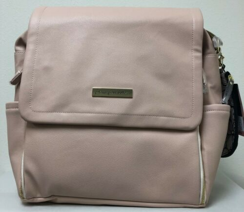 Petunia Pickle Bottom Boxy Baby Diaper Bag Backpack Blush Leatherette NEW
