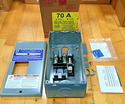 Square D Homeline 70 Amp 2-space 4-circuit Outdoor Main Load Center Hom2-4l70