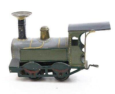 "Antique FV French Train 6.5"" Locomotive tin Hand Painted ca. 1890s-1900s"