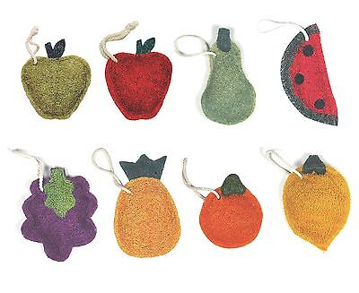 Loofah-art 100% Natural Loofah Kitchen Scrubber / Scrub Pad - Fruit Shapes 3pk