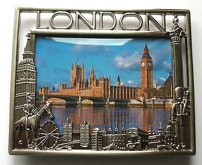 London Picture Photo Frame Bus Tel London Eye Tower Bridge Souvenir Gift
