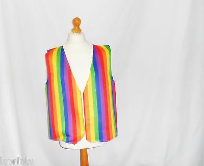 Lustige NEUHEIT Weste Gay Pride Regenbogen Kostüm Spass Geschenk Party Festival