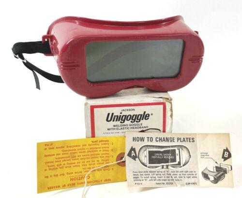 Vintage Jackson Unigoggle Welding Goggle WR-60 Shade 5 Red 0746-0223 NOS