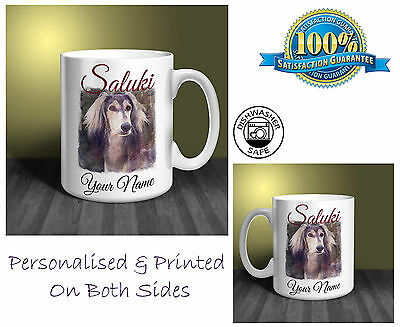 Saluki Personalised Ceramic Mug: Perfect Gift. (D295)