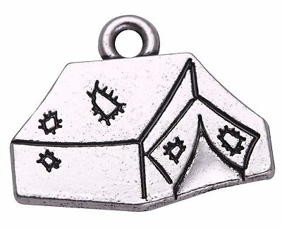 20pcs Camping Series Tent Charm Pendant for DIY Jewelry Making Necklace Bracelet - Diy Camping Tent