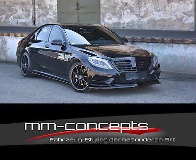 Cup Spoilerlippe CARBON Mercedes S-Klasse W222 AMG Line Spoilerschwert Spoiler