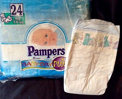 Vintage Pampers Baby-Dry Plus Diaper Sz Mini for Boys Europe Import- Reborn for sale  Shipping to India
