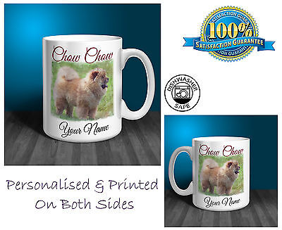 Chow Chow Personalised Ceramic Mug: Perfect Gift. (D271)