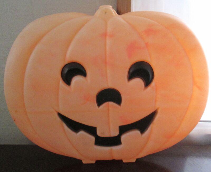 "20"" Halloween Jack-o-lantern Pumpkin Plastic Light Up Blow Mold Yard Decor"