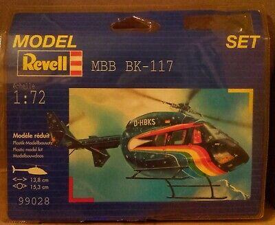 REVELL N.99028 MBB BK 117 SPACE SHIP Scala 1:72 START SET NO PAINT BRUSH 1998