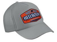 Hellmotors Motorcycle Hotrod Orange V8 Basecap Oldschool Kappe Unisex Grey Hat