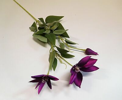 Clematis Seidenblume Kunstblume Kunstpflanze 73 cm lila violett N-12474-6 F64