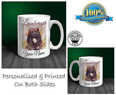 Leonberger Personalised Ceramic Mug: Perfect Gift. (D214)