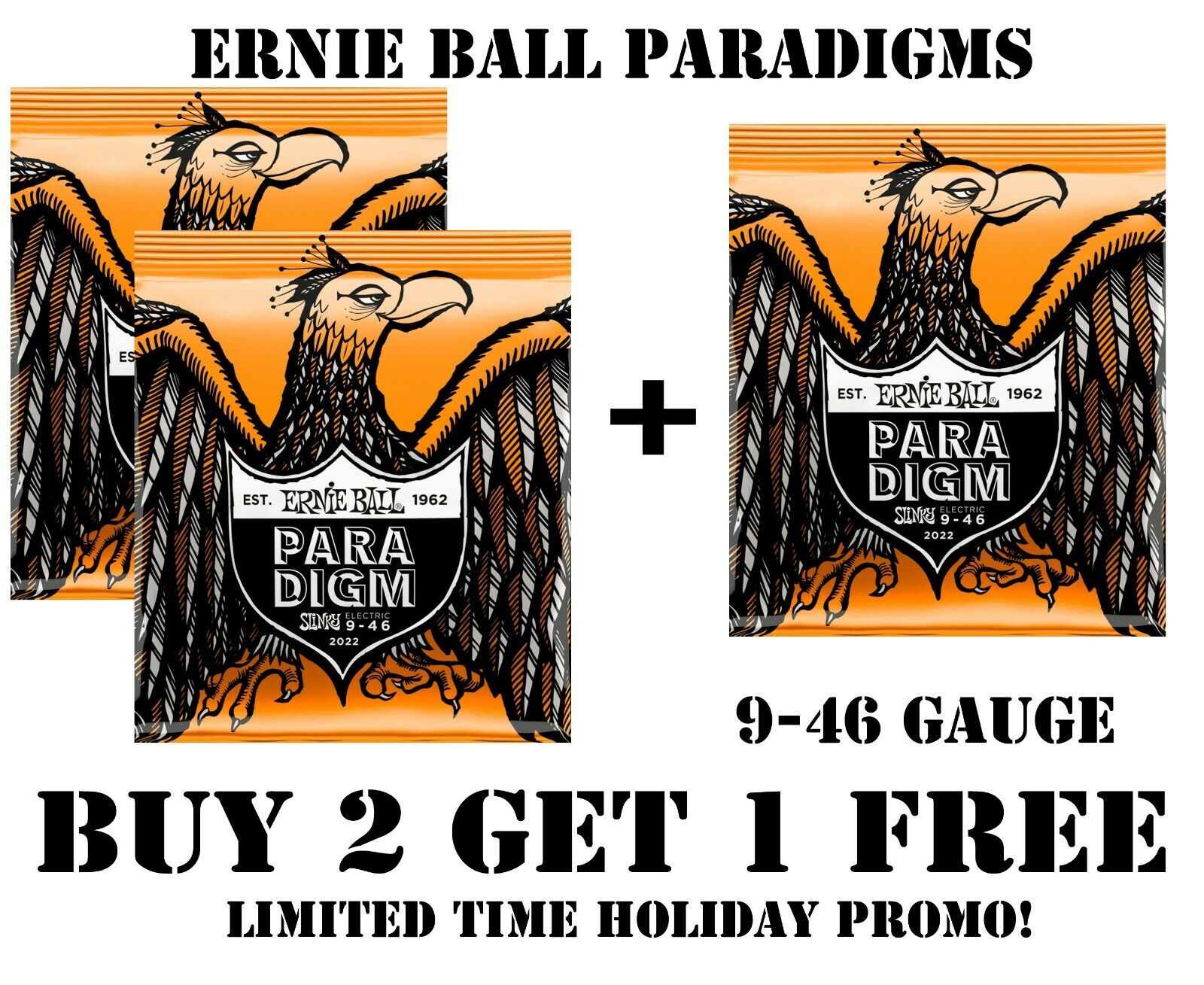 Ernie Ball Paradigm Hybrid Slinky Electric Guitar Strings 9-