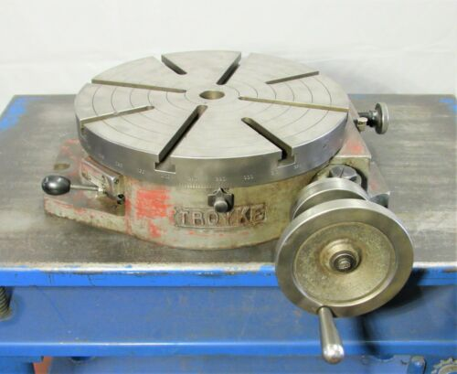 "15"" Troyke Model R-15 Horizontal Rotary Table, ID# R-006"