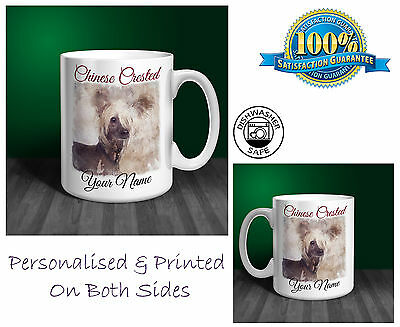Chinese Crested Personalised Ceramic Mug: Perfect Gift. (D124)