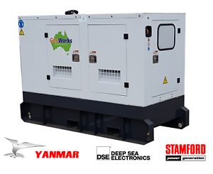 New YANMAR Diesel Generator 11kVA Single Phase 240Vac in Canopy Raceview Ipswich City Preview