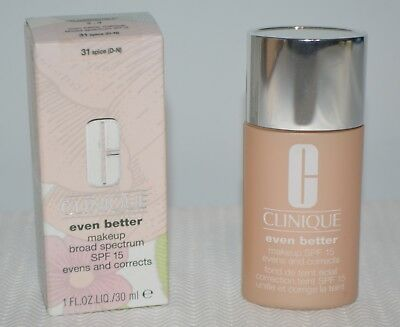 Best Liquid Makeup - 2 Clinique EVEN BETTER Liquid Makeup Broad Spectrum SPF 15 (31) ~SPICE~