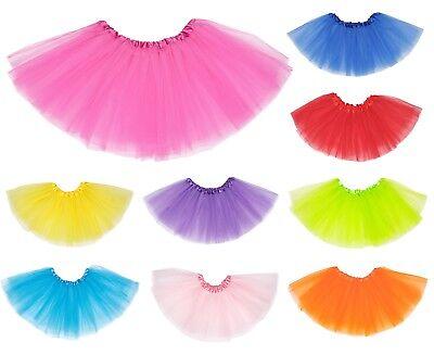 LADIES PETTICOAT TUTU SKIRT 80S NEON FANCY DRESS DANCE COSTUME HEN PARTY BALLET - 80s Tutu Skirts