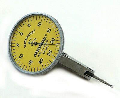 Federal Lt-88 Testmaster Metric Dial Test Indicator - 0.25 Mm Range .01mm Grad