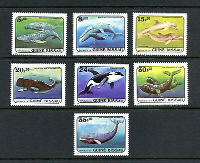 H213  Guinea Bissau  1984  whales fish marine    7v.   MNH
