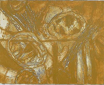 """HYMAN WARSAGER (NY 1909-2001) COLORED SERIGRAPH PENCIL SIGNED / TITLED """"RONDO"""""""