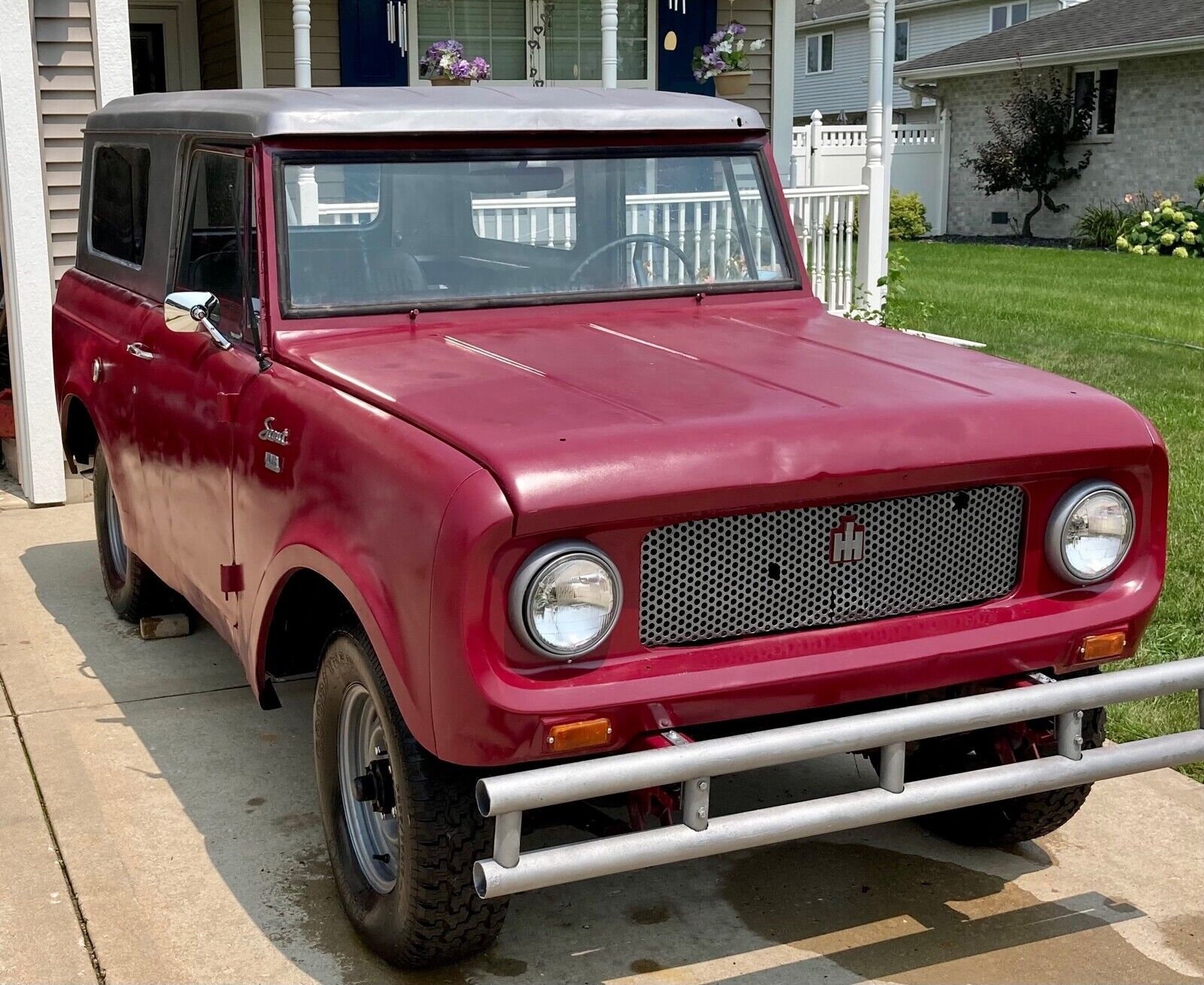 1966 International Scout SUV Red AWD Manual