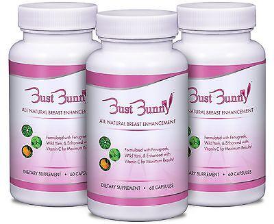 Breast Enhancement Supplement (AS SEEN ON TV - BUST BUNNY Breast Enhancement Supplement - 3 month)