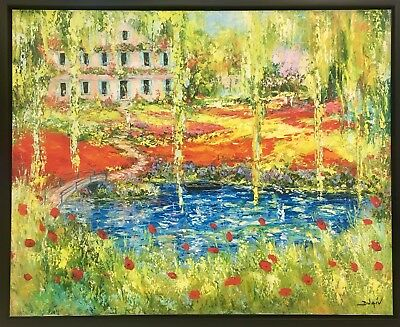 """Monet Garden"" by Duaiv (Canvas/Painting/Flower/Modern)"