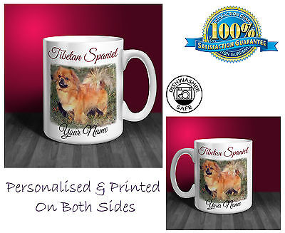 Tibetan Spaniel Personalised Ceramic Mug: Perfect Gift. (D126)