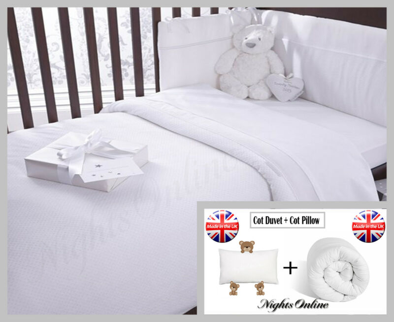 Cot Bed Package Deal, Includes Cot Duvet + Cot Pillow