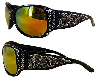 Montana West Sunglasses! Lovely Silver Scroll Design and Bling!! (Lovely Sunglasses)