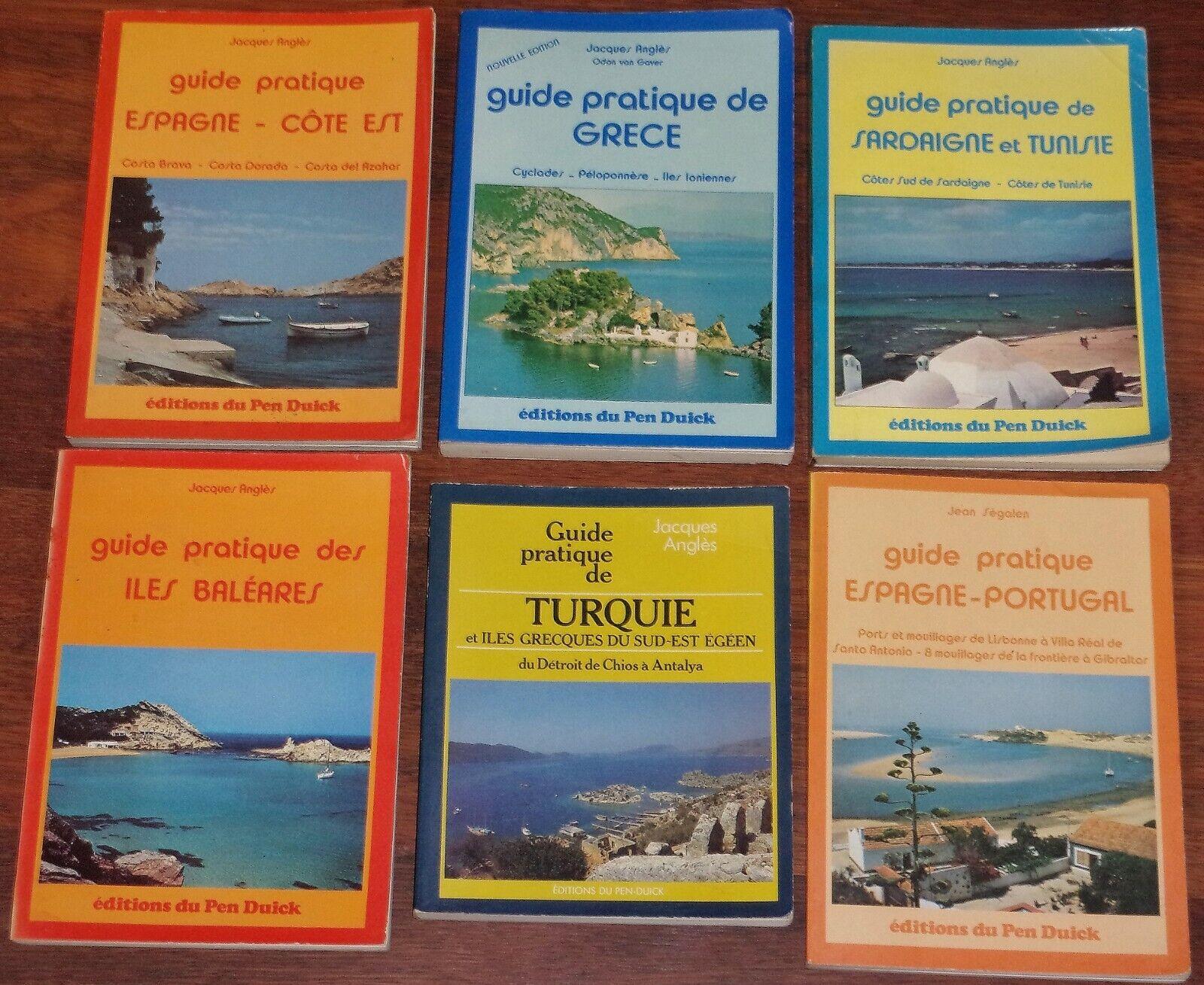 navigation marine lot 6 guides anglès espagne portugal sardaigne baleares grece