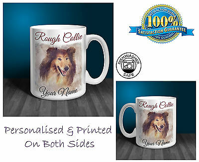 Rough Collie Personalised Ceramic Mug: Perfect Gift. (D181)