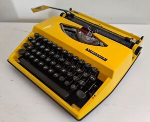 Retro Vintage 70's Yellow Adler Tippa Manual Typewriter With Case Keysborough Greater Dandenong Preview