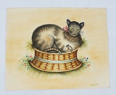 "Vtg 1976 CAT Art Print Poster Famous Painting ** 9.5/"" x 12.75/"" ** SEE VARIETY"
