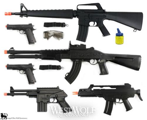 LOT of New 6 Airsoft Guns/Rifles -- Shotgun/Pistol/1911/M16/M4/props + Extras !