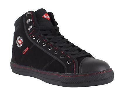 Stil Stiefel (Lee Cooper 022 Unisex Schwarz Sb Stahlkappe Sicherheit Retro Stil Hoch Stiefel)