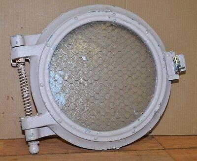 "21"" diameter aluminum port hole 15"" glass industrial nautical steampunk ship"