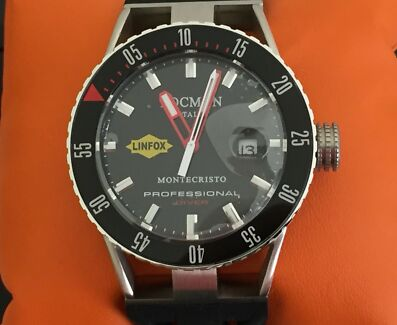 Locman Men's Watch has the the Linfox logo in the Watch made in Italy