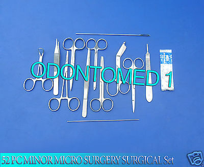 52 Pc Minor Micro Surgery Surgical Veterinary Dental Instruments Student Ds-794