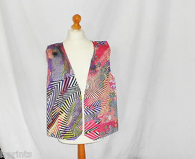 Funny Novelty Waistcoat Colourful Swirl Fun Fancy Dress Gift Idea Party Festival - Colorful Costume Ideas