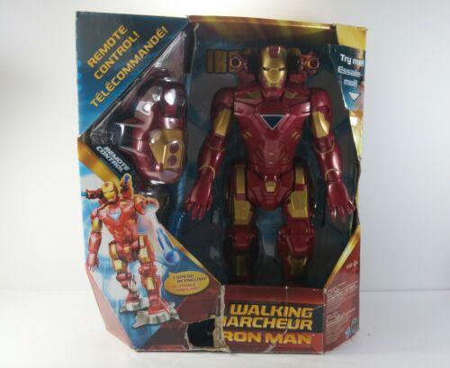 Iron Man 2 Walking Iron Man Toy Hasbro Marvel Avengers Remote Control.