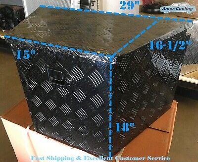 Aluminium Black Trailer Tongue Box Tool Storage Horse Boat Rv Truck Atv Towing