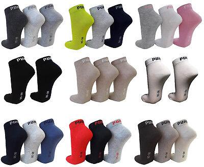 9 Paar SPARPACK Puma Kurzschaft Sneaker Socken - Quarter 1/4 Schaft