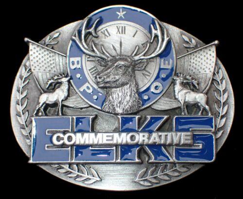 B.P.O.E. ELKS LODGE COMMEMORATIVE BELT BUCKLE #774/5000 VINTAGE 1991 SISKIYOU
