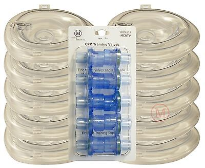 Lot 10 Deluxe Adult Collapsible Cpr Training Pocket Resuscitator Masks Valves