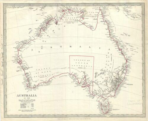 1840 S.D.U.K. Map of Australia