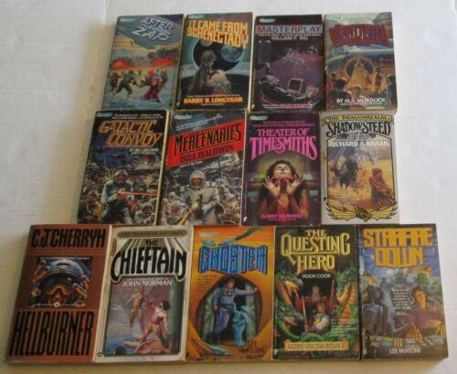 Lot of 13 Questar Science Ficition Paperback Books 80s 90s SciFi Space Fantasy