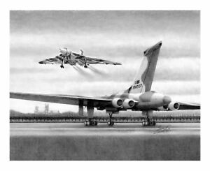 Vulcan Over Lincoln Cathedral (A3 Print)